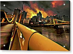 Pittsburgh Skyline Acrylic Print by  Fli Art