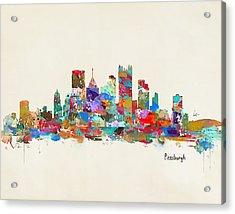 Pittsburgh Skyline Pennsylvania Acrylic Print by Bri B
