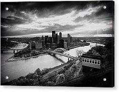 Pittsburgh Skyline1 Acrylic Print by Emmanuel Panagiotakis