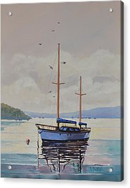 Acrylic Print featuring the painting Pittwater Calm by Murray McLeod