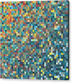 Pixel Art Vector Background Acrylic Print by Mike Taylor