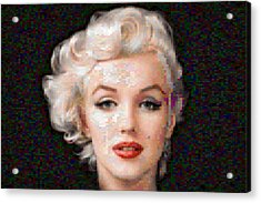 Pixelated Marilyn Acrylic Print