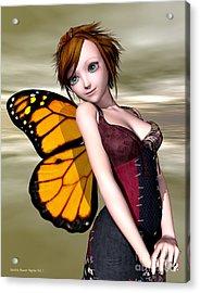 Pixie Acrylic Print by Sandra Bauser Digital Art