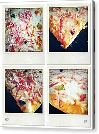 Pizza Acrylic Print by Les Cunliffe