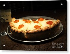Pizza Pie - 5d20701 Acrylic Print by Wingsdomain Art and Photography
