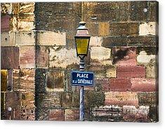 Place De La Cathedrale Acrylic Print