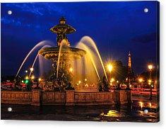 Place De La Concorde Acrylic Print by Midori Chan