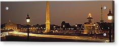 Place De La Concorde Paris France Acrylic Print by Panoramic Images