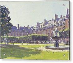 Place Des Vosges, Paris Oil On Canvas Acrylic Print