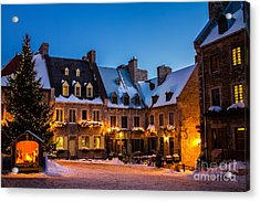Place Royale Quebec City Canada Acrylic Print by Dawna  Moore Photography