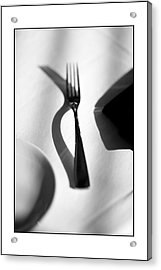 Place Setting Simplicity Acrylic Print by Don Powers