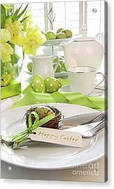 Place Setting With Place Card Set For Easter Acrylic Print by Sandra Cunningham