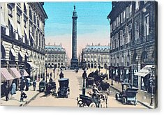 Place Vendome Paris 1910 Acrylic Print by Ira Shander