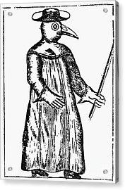 Plague Costume, 1720 Acrylic Print by Granger