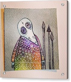 Plague Doctor.  #silver #plaguedoctor Acrylic Print