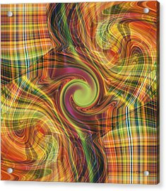 Plaid Tumble Acrylic Print