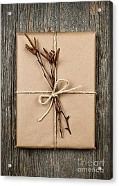 Plain Gift With Natural Decorations Acrylic Print by Elena Elisseeva