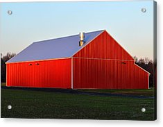 Acrylic Print featuring the photograph Plain Jane Red Barn by Bill Swartwout