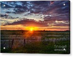 Plains Sunset Acrylic Print