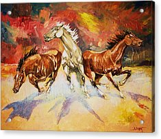 Acrylic Print featuring the painting Plains Thunder by Al Brown