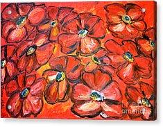 Plaisir Rouge Acrylic Print