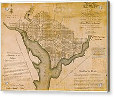 Plan For Washington D.c. Acrylic Print by American Philosophical Society