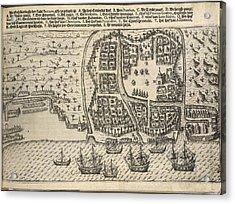Plan Of Bantam Acrylic Print by British Library