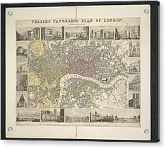 Plan Of London Acrylic Print