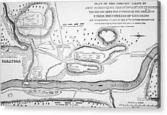 Plan Of The Battle Of Saratoga October 1777 Acrylic Print by American School