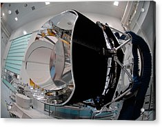Acrylic Print featuring the photograph Planck Space Observatory Before Launch by Science Source