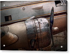 Acrylic Print featuring the photograph Plane - A Little Rough Around The Edges by Mike Savad