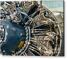 Plane Engine Close Up Acrylic Print by Paul Ward