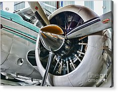 Plane First Class Acrylic Print by Paul Ward