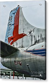 Plane Tail Wing Eastern Air Lines Acrylic Print by Paul Ward