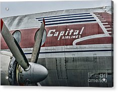 Plane Vintage Capital Airlines Acrylic Print by Paul Ward