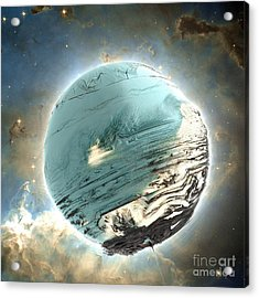 Planet Blue Acrylic Print by Bernard MICHEL