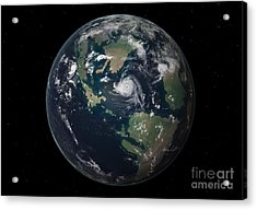 Planet Earth 90 Million Years Ago Acrylic Print by Walter Myers
