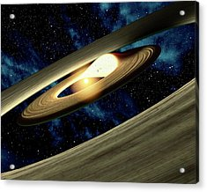 Planet Forming Disk Distortion Acrylic Print by Nasa/jpl-caltech