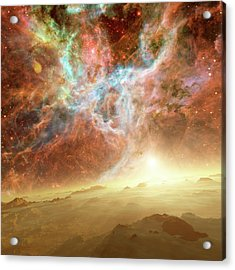 Planet Forming In A Nebula Acrylic Print