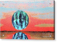 Planet In Space  Acrylic Print by Odon Czintos