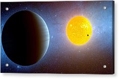 Planet Kepler10 Stellar Family Portrait Acrylic Print by Movie Poster Prints