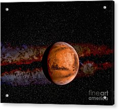 Planet - Mars - The Red Planet Acrylic Print by Paul Ward