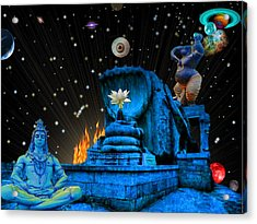 Planet Of Shiva  Acrylic Print by Jason Saunders