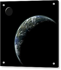 Planet With Moon No.2 Acrylic Print