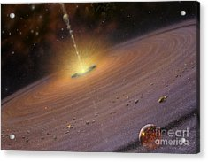 Planetary Disk II V2 Acrylic Print by Lynette Cook