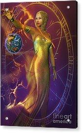 Planetary Energy Acrylic Print by Shadowlea Is