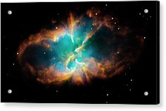 Planetary Nebula Ngc 2818 Acrylic Print by Nasa/esa/stsci/hubble Heritage Team/science Photo Library