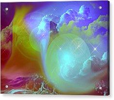 Planetary Storm Acrylic Print by Ute Posegga-Rudel