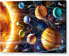 Planetary System Acrylic Print by Adrian Chesterman