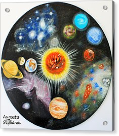 Planets And Nebulae In A Day Acrylic Print by Augusta Stylianou